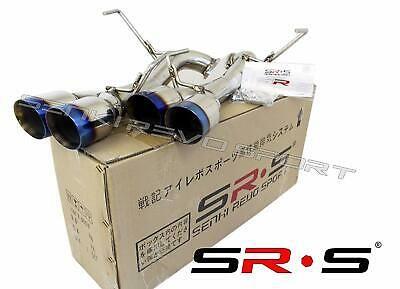 Srs Axleback Exhaust Muffler Delete Burnt 3 5 Tips Dw For Subaru Wrx Sti 15 20 Subaru Wrx Wrx Subaru