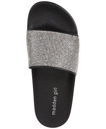 e3d872946 Madden Girl Fancy Rhinestone Pool Slide Sandals   Reviews - Sandals   Flip  Flops - Shoes - Macy s