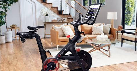 Peloton Exercise Bike With Indoor Cycling Classes Streamed Live