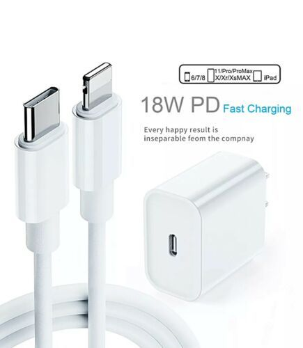 For Apple Iphone 11 Pro Max Lightning Cable Fast Charger 18w Usb C Power Adapter Us Polybull Com In 2021 Lightning Cable Cable Charger Charger Adapter