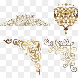 Golden Corner Vine Vector Png Material Pattern Gold Vector Corner Vector Pattern Vector Gold Graphic Design Background Templates Free Clip Art