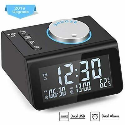 Small Digital Alarm Clock Radio Dual Alarm 7 Wake Up Sounds Display Dimmer Fashion Home Garden Homedco Digital Alarm Clock Radio Alarm Clock Radio Clock