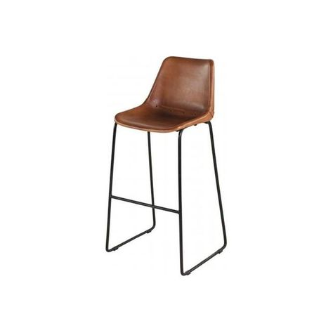 Tabouret De Bar En Cuir Elmoss With Images Home Decor Decor Deco