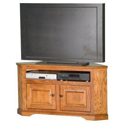 Eagle Furniture Oak Ridge Customizable 50 in Corner TV Cart