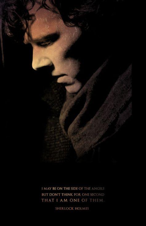 Sherlock Sherlock Holmes Side of Angels Digital by watchitDesigns