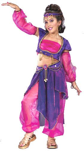 Ladies Turquoise Arabian Nights Belly Dancer Fancy Dress Costume Outfit UK 8-18