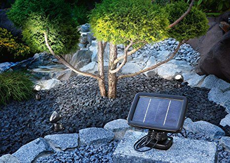 Solarspot Trio Solar Strahler Solarleuchte LED Gartenleuchte Strahler Außen