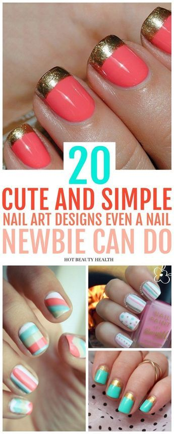 20 Simple Nail Designs For Beginners Hot Beauty Health Kids Nail Designs Nails For Kids Simple Nail Art Designs