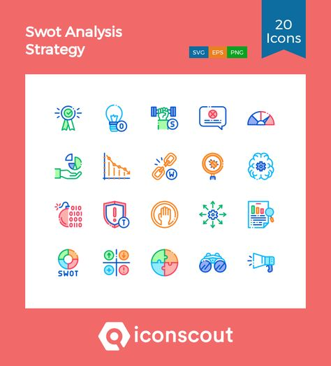 Download Swot Analysis Strategy Icon pack - Available in SVG, PNG, EPS, AI & Icon fonts
