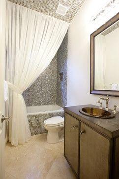 30 Elegant Bathroom Curtain Ideas 2020 You Should Try Dovenda In 2020 Elegant Bathroom Bathroom Shower Curtains Shower Curtain Decor