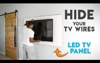 How To Hide Tv Cables With A Diy Led Tv Panel Hide Tv Cables Tv Panel Wall Mounted Tv