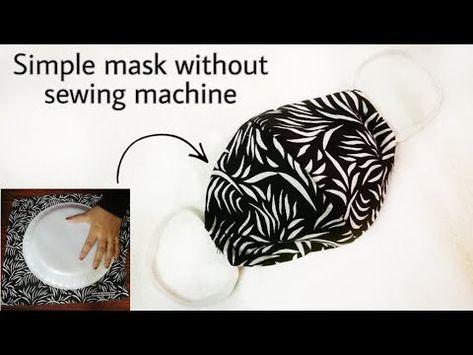 Circle/round face mask /How to stitch mask at home no sewing machine/masherina facile e veloce - YouTube