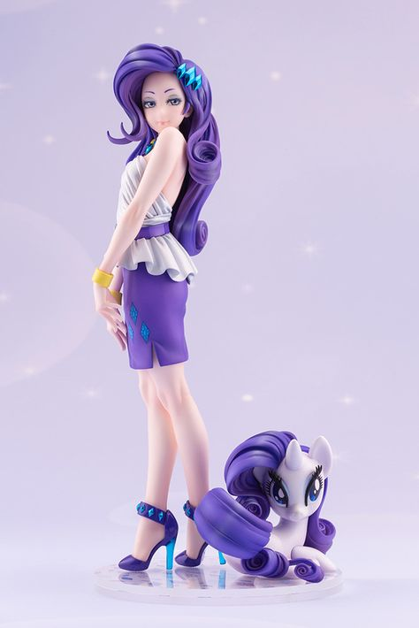 Rarity My Little Pony Bishoujo Statue Figure My Little Pony Rarity, Rarity Pony, My Little Pony Dolls, New My Little Pony, Filles Equestria, Bishoujo Statue, Little Poney, Japanese Imports, Anime Figurines