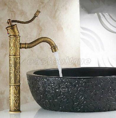 Advertisement Antique Brass Bamboo Design Bathroom Sink Faucet Vanity Basin Mixer Tap Enf163 Basin Mixer Taps Sink Mixer Taps Bamboo Design