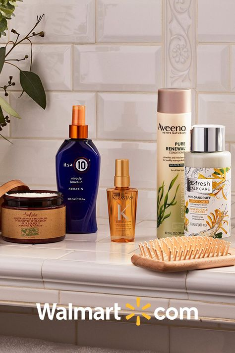 Treat your hair to leave-in conditioners, serums, and more at Walmart.com