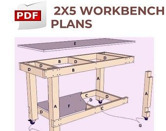 Folding Work Bench Wall Mountable Build Plans Imperial Us Standard Lumber Sizes Workbench Plans Bench Plans Workbench