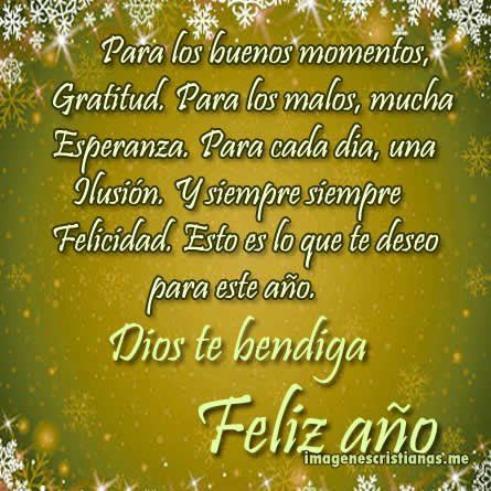 Frases De Feliz Ano Nuevo Con Imagenes Cristianas Para Amigos