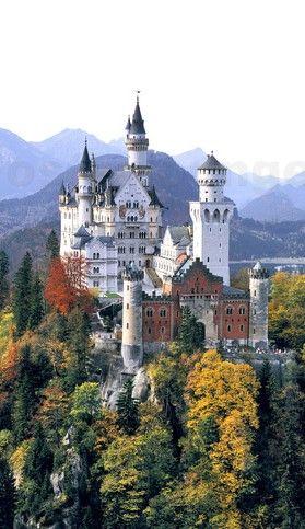 Schloss Neuschwanstein Castle Disney Cinderella Castle Huge Houses