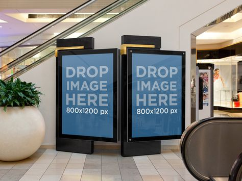 Ads On The Mall Billboard Mockup Type Posters Billboard