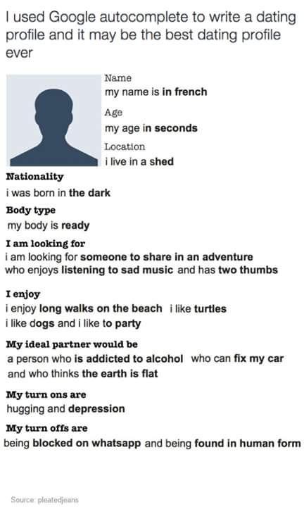 Auto presentazione online dating