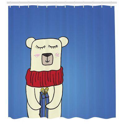 East Urban Home Ambesonne Polar Bear Shower Curtain Polar Bear