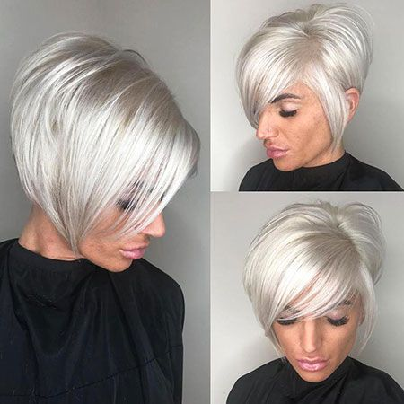 Short Asymmetrical Bob Hairtyles Short Hair With Layers Short Hair Styles Bleached Hair