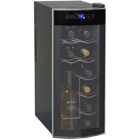 Avanti 12 Bottle Thermoelectric Wine Cooler By Avanti Wine Refrigerator Thermoelectric Wine Cooler Wine Chiller