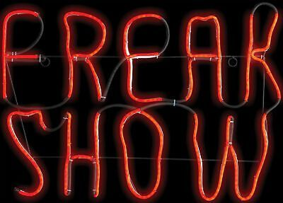 Freak Show Glow Light Halloween Decoration Neon Sign Bedroom, Neon Quotes, Neon Room, Led Neon Signs, Cool Neon Signs, Neon Bar Signs, Neon Words, Light Up Signs, Red Led Lights