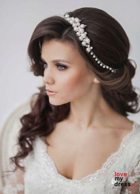 Eleganckie fryzury ślubne z rozpuszczonymi włosami [galeria] | LOVE MY DRESS