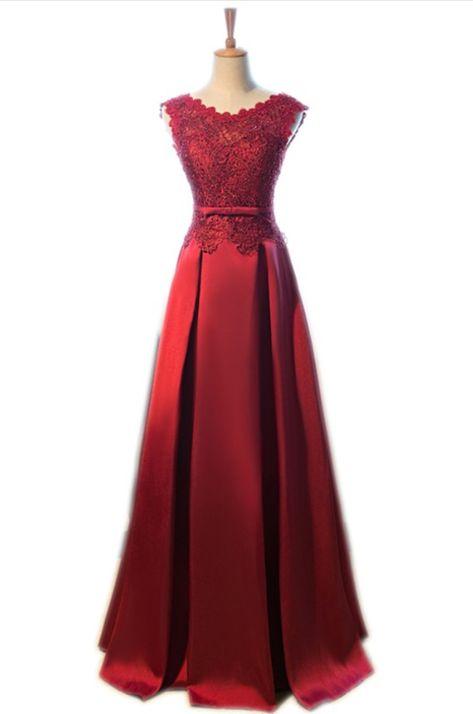 a51d6566a73 Elegant Lace Beading Long A-line Vestido Satin Sleeveless  prom  promdress   dress  eveningdress  evening  fashion  love  shopping  art  dress  women  ...
