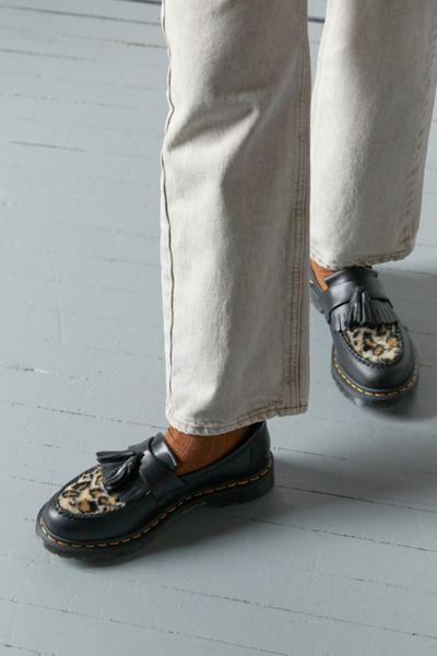 Dr Martens Adrian Tassel Leopard Loafer In 2021 Leopard Loafers Doc Martens Loafers Sneaker Boots