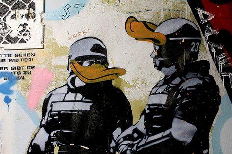 Dolk Real Riot Cops Graffiti Street Art