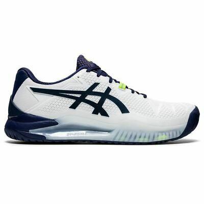Asics Gel Resolution 8 Men Wide Tennis Shoes White Peacock In 2020 Mens Tennis Shoes Tennis Shoes Asics