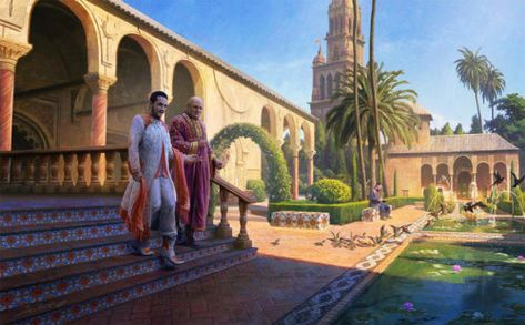 Intrigue in Dorne Illustration for the Game of Thrones Tournament in Seville.