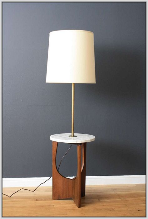 Floor Lamp With Table Attached Google Search Floor Lamp Mid