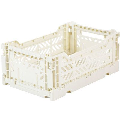 Commandez En Stock La Caisse Pliante Mini Blanc Ecru Aykasa L Little Home Fr Decouvrez Les Caisses Plastique Recyclable Ultr Caisse Rangement Boite De Rangement