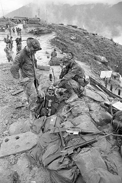 January 01, 1973 License U.S. soldiers of the 101st Airborne Division in the mountains above Hue, Vietnam 1973.