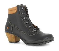 Ankle Boots With Heel 0542 Rustic Black Oslo The Art Company Womens Boots Ankle Boots Heeled Boots