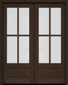 8 Lite Interior Brazilian Mahogany 1 Panel Ig Glass Double Door In 2020 Double Doors Interior French Doors Double Doors