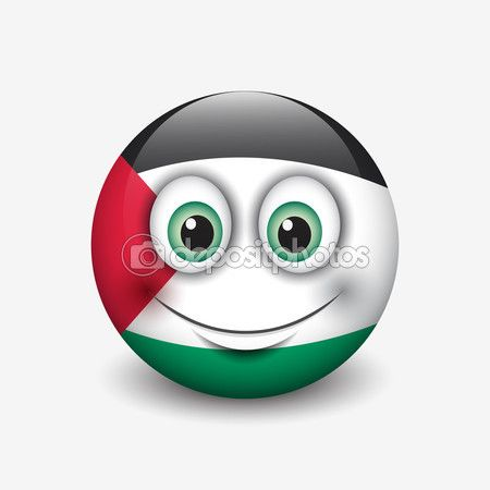 Palestine flag smiley — Stock Illustration #112593446