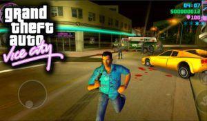 تحميل لعبة حرامي السيارات فايس سيتي للأندرويد Gta Vice City City Games Download Games Gta