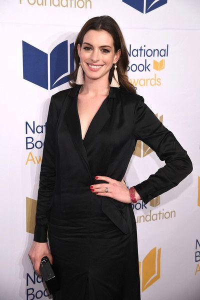 Anne Hathaway attends the 68th National Book Awards at Cipriani Wall Street.
