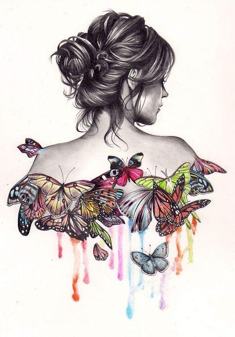 0d9ae3944ad345e921085c9b92139fe1 creative drawing ideas butterfly effect jpg