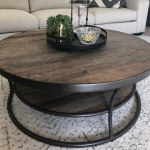 Bartlett 42 5 Round Reclaimed Wood Coffee Table Coffee Table Wood Oval Wood Coffee Table Coffee Table