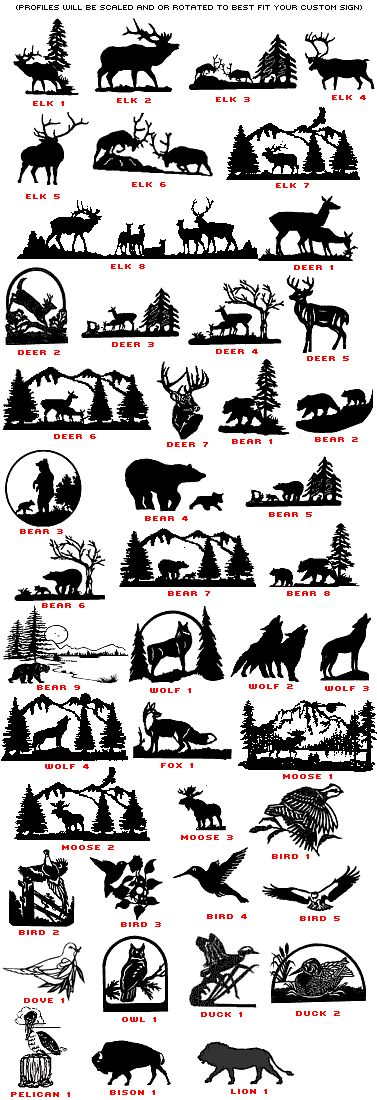 Moose and others - Silhouette