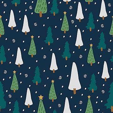 Childish Drawing Seamless Pattern With Winter Tree Background Pattern Christmas Pattern Png And Vector With Transparent Background For Free Download Christmas Tree Drawing Christmas Background Vector Floral Pattern Vector