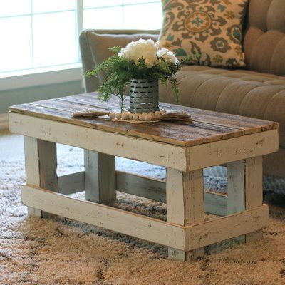 Rosecliff Heights Ladd Solid Wood Coffee Table Wayfair Woodworking Furniture Table Wood Pallet Furniture Coffee Table Wood