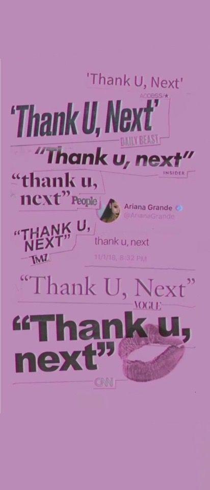 Ariana Grande Thank U Next Lock Screen Credit To Tumblr Ariana