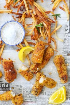 spicy fish goujons