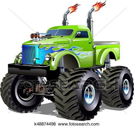 Cartoon Monster Truck Clip Art With Images Monster Trucks